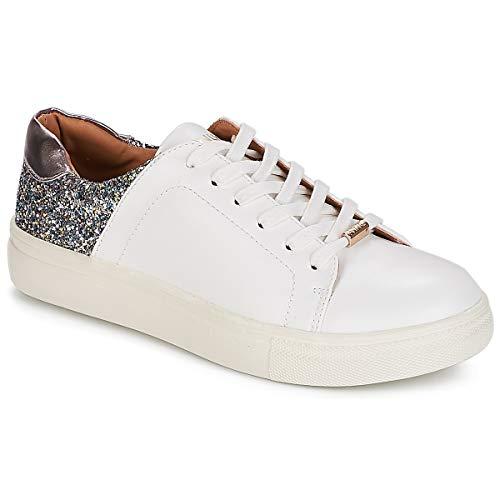 ONLY Onlsage Sneaker, Zapatillas Mujer, Blanco (White Detail: W. Rose Glitter), 36...