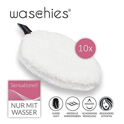 waschies Abschminkpads waschbar | Wiederverwendbare Abschminktücher, Kosmetikpads zur Make-Up Entfernung | Umweltfreundlich, Nachhaltig (10er-Set)