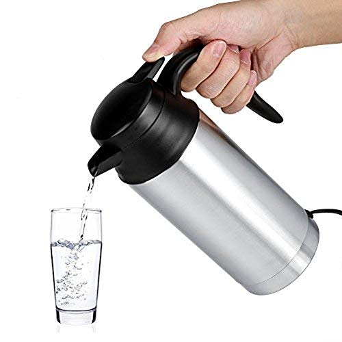 Car Electric Kettle 12V 750ml Stainless Steel Boil Water Heating Cup for Tea Coffee Suitable for Travel