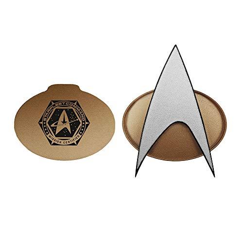 Star Trek Next Generation 2021 Bluetooth Communicator Badge - TNG Bluetooth Combadge with Chirp Sound Effects, Microphone & Speaker – Star Trek Memorabilia, Gifts, Collectibles, & Toys for StarTrek