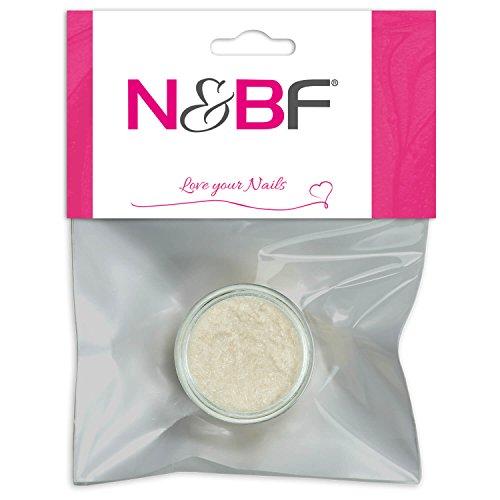 N&BF Velvet Puder Cream (Beige) | Samtpuder für Gelnägel & Nagellack | Nailart Plüsch Pulver | Flocking Powder für Nageldesign | Puschel Puder Dust im Samt Look