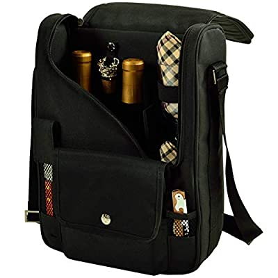 Picnic at Ascot Wine and Cheese Cooler Bag Equipped for 2 with Glasses, Napkins, Cutting Board, Corkscrew, etc. from