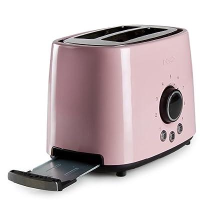 Domo-DO952T-Edelstahl-Pastell-Toaster-rosa