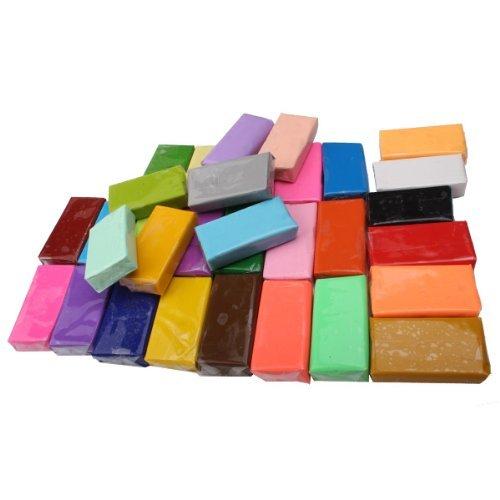 AKDSteel Bloques de arcilla de polímero Fimo de 32 colores suaves y...