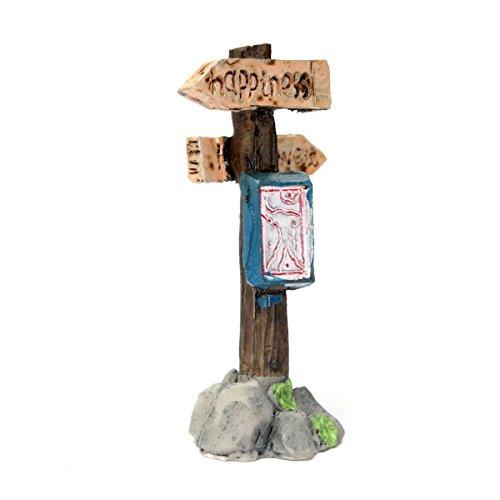 Hrsptudorc Poste de indicador en Miniatura para casa de Muneca Decoracion del Jardin de los bonsais del Paisaje Artesania DIY Feliz Dulce