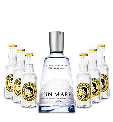 Gin Mare Gin Tonic Set - Gin Mare Gin 700ml (42,7% Vol) + 6 Thomas Henry Tonic Water 200ml