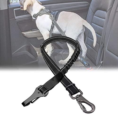 YCRD Cinturón Seguridad para Perros, Arnés Seguridad Universal para Perros con Mosquetón, Arnés Coche Ajustable para Perros con Amortiguador Antichoque para Viajes en automóvil para Mascotas