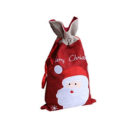 STOBOK Nikolaussäckchen Weihnachten Säckchen Geschenkbeutel Geschenksäckchen Weihnachtsdeko Süßigkeiten Beutel zum Befüllen (Weihnachtsmann)