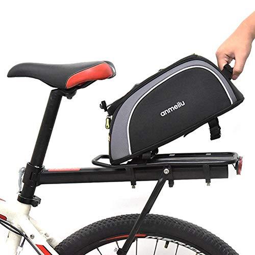 Foyar Bolsa para asiento trasero, bolsa para la cola de la motocicleta, bolsa para asiento trasero rígida, impermeable, multifuncional, mochila de almacenamiento para tanque de alta capacidad duradera