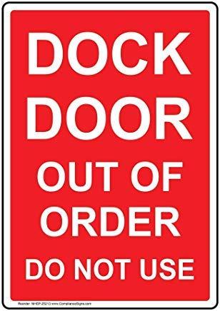 Vertikale Docktür Out of Order Do Not Use Schild Neuheit Aluminium Warnschilder Metall für Eigentum Hosue Dekor Hinweisschild Zaun Hofschild mit englischem Text Rot