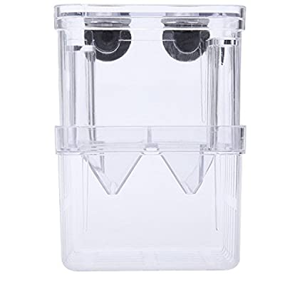 Acrylic Self-Floating Fish Fry Breeding Box Hatchery Isolation Incubator Divider Tank for Aquarium Equipment S Size