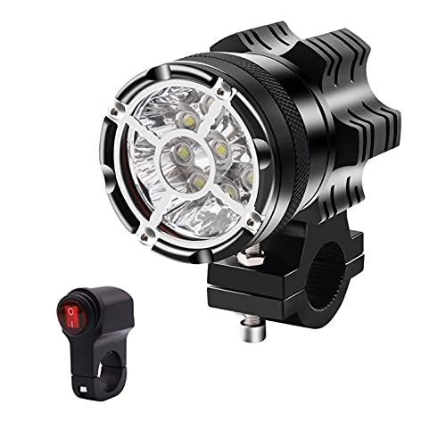 Adecuado para la mayoría de Las Motocicletas 1pcs 9 LED Luz de Niebla con Interruptor Motocicleta Foco de Aluminio Aleación de Aluminio LED FUDARIOS LED con Concha a Prueba de explosiones