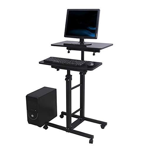 EstaCiones de Trabajo Informáticas Tabla de elevación multifuncional ordenador soporte de escritorio escritorio del ordenador portátil móvil de la cabecera ajustable escritorio del hogar turística par