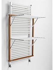 "Arredamenti Italia wasdroogrek voor radiatoren KLAUS, hout - inklapbaar - 10 mt linnen - kleur: kersenhout""Ar-It il cuore del legno"""