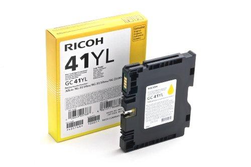 Ricoh 405768 SG2100N Inkjet Cartridge, 600 Seiten / 5% Deckung GC41YL, gelb
