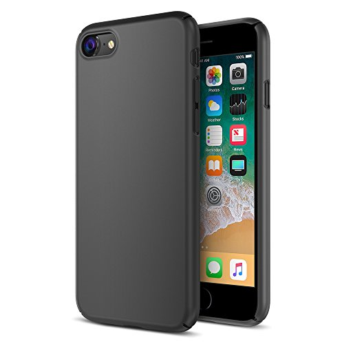 Maxboost iPhone 8 Case, mSnap Series for Apple iPhone 8 (2017) /iPhone 7 [Black] Extreme Smooth Surface [Scratch Resistant] Matte Coating for Excellent Grip Thin Hard Protective PC Cover