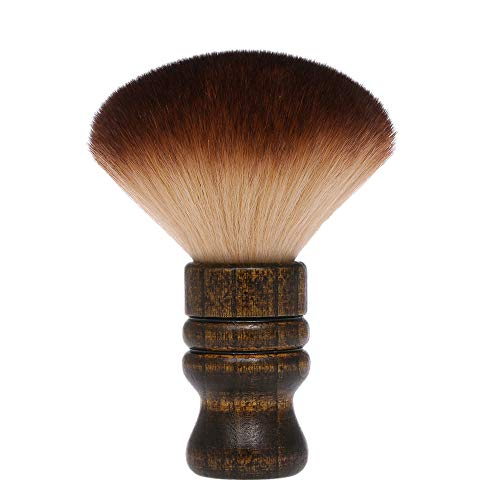 Anself Groß Friseur Nackenpinsel Haarbürste Duster Pinsel mit holz Griff