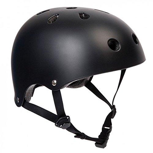 SFR Skateboard/scooter/inliner/rolschaats bescherming helm - zwart - Bmx, inliner, longboard helm - beschermingsuitrusting skateboard helm, maat: L/XL 57-59cm