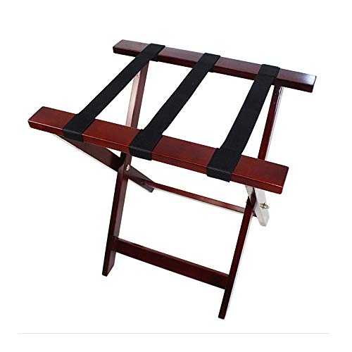 Buy Discount YADSHENG Luggage Racks Heavy Solid Wood Folding Multifunctional Floor-Standing Luggage ...