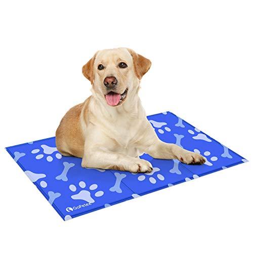 GoPetee Alfombrilla refrescante para Mascotas Cama de Perro y Gato para Verano Animales Manta de Dormir Fresco Cojín,50*90cm