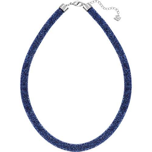 Swarovski Damen-Fischgrätkette Stardust Montana/Blue rhodiniert Kunststoff Glas blau - 5127503