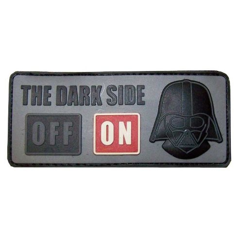 3D Rubber Patch 'the dark side'