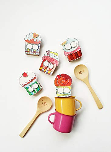 DIY Cupcake Matchbox-cards - Set of 5 - Do It Yourself Sweet Treats Greeting Cards - Assorted Boxed Card Set for Kids, Food lovers - All Occassion Cards - DY007