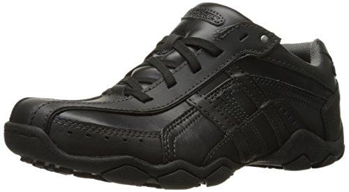 Skechers  Men's Diameter Murilo Shoe,Black Leather,9 M US