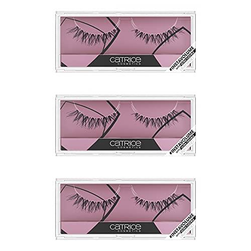 Catrice Lash Couture InstaVolume Lashes, Augenbrauen, fake lashes, künstliche Wimpern, mit ultra flexiblem Wimpernband, schwarz, volumengebend, Expressergebnis, ohne Parfüm, 3er Pack (3 x 1 Paar)