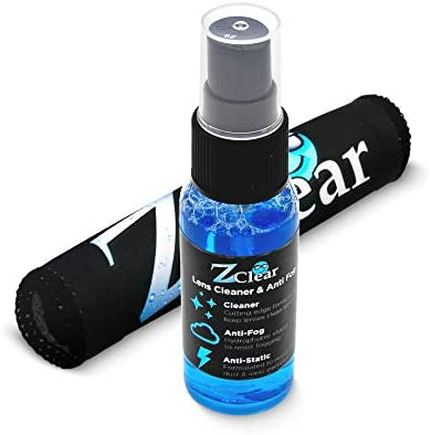 Z Clear Lens Cleaner Reinvented 1oz Spray Microfiber Anti Fog Stays Cleaner Longer Anti Static product image