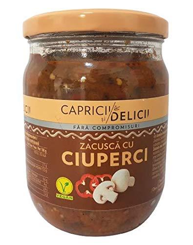 TRADITIONAL RUMANISCHE ZACUSCA CU CIUPERCI - Gemüsekaviar mit Pilzen - CAPRICII SI DELICII - 500g