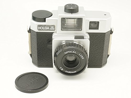Holga 120GCFN Black/Silver with Glass Lens and Colored Flash Film Camera