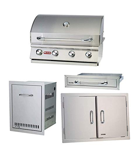 BULL Outdoor Natural Gas Outlaw Drop-in Barbecue Grill with Accessory Package Gas Grills Natural