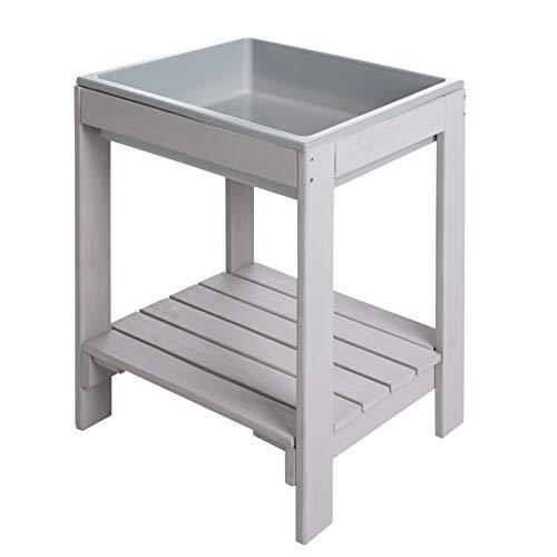 roba kinderspeeltafel 'Tiny' Outdoor +, weerbestendig massief houten matras, grijs