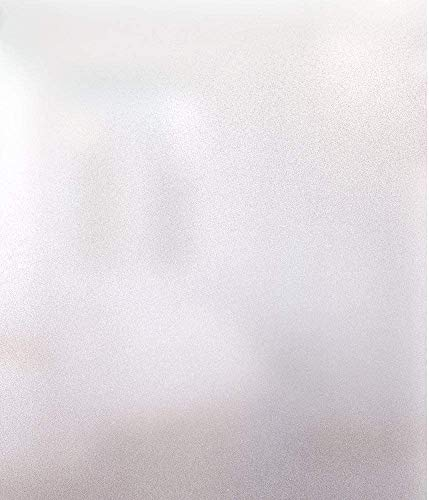 rabbitgoo Fensterfolie Selbsthaftend Blickdicht Milchglasfolie Sichtschutzfolie Fenster Anti-UV statisch haftende Folie Für Büro Badzimmer 30 x 200 cm Weiß Matt