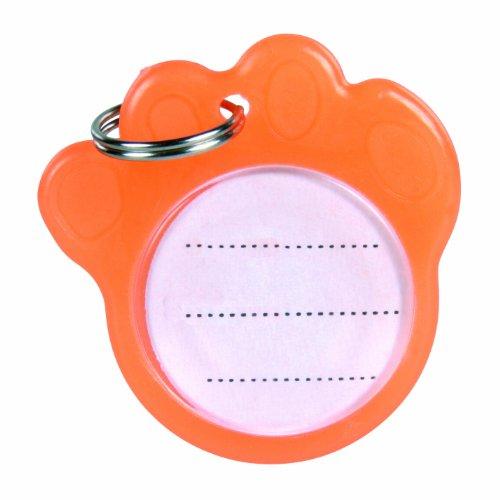 Porte adresse, phosphorescent, ø 3,5 cm, orange, pour chien