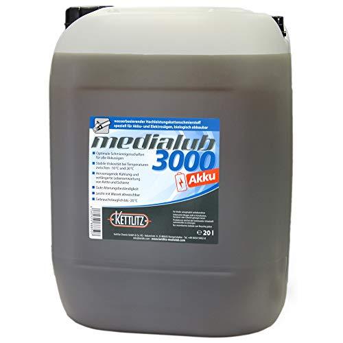 20 liter / 20 liter KETTLITZ-Medialub 3000 accu voor accu en elektrische zagen - biologische zaagkettingolie op waterbasis - Made in Germany