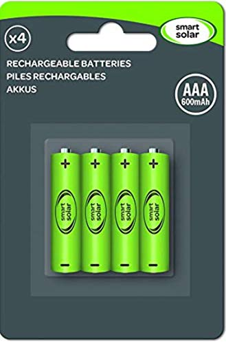 Smart Solar Rechargeable Batteries AAA 600mAh 4 Pack