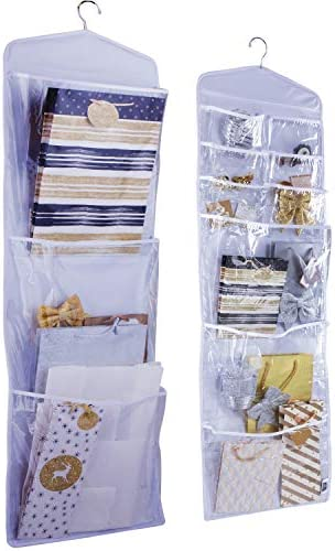 Regal Bazaar Large Double Sided Hanging Gift Bag Organizer and Tissue Paper Holder White product image