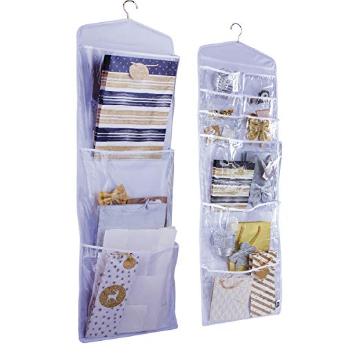 16x52 in Large Double-Sided Hanging Gift Bag Organizer