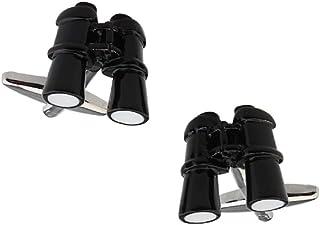 MRCUFF Binocular Pair Cufflinks in a Presentation Gift Box & Polishing Cloth