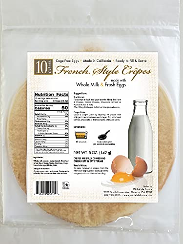 Michel De Max 73% OFF France All Natural Crepes Limited time cheap sale Ready Preservatives No to -