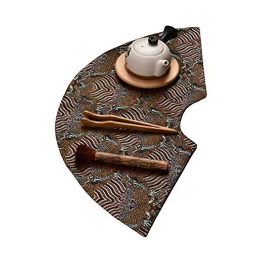 Wukong Paradise Nappe à thé Tapis à thé Broderie sous-Verres à thé Chemin de Table Accessoires de thé-A04
