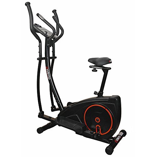 Viavito Setry 2-in-1 Elliptical Trainer and Exercise Bike - Black/Red