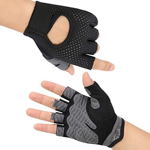 flintronic Fitness Handschuhe, Trainingshandschuhe, Gewichtheben Handschuhe, Trainingshandschuhe für Damen und Herren, Sporthandschuhe für Fitness, Bodybuilding, Kraftsport & Crossfit - M