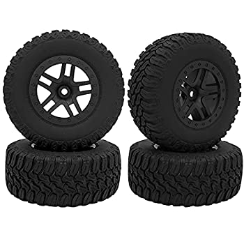 GLOBACT RC Tires for 1/10 Short Course Truck Tires for Traxxas Slash 4x4 2WD HSP Tamiya HPI Kyosho Redcat ARRMA AXIAL RC4WD Model Car(4Pcs/Set) Replace 5883/5883A