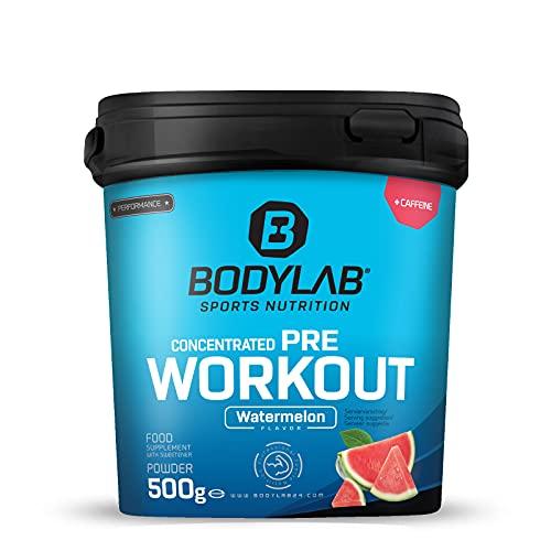 Bodylab24 Concentrated Pre-Workout Booster Wassermelone 500g, Energy-Booster mit Kreatin, Beta-Alanin, Arginin, Niacin und Koffein im optimalen Verhältnis für mehr Power und Energie im Training