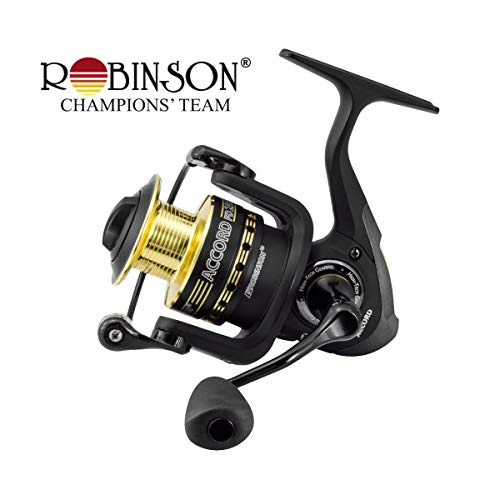 Robinson Accord FD universale Angelrolle Spinnrolle mit Alu-Spule/Frontbremse FD206 / 281g / 5,2:1 / 66cm
