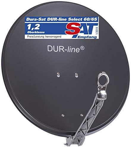 DUR-line Select 60cm x 65cm Alu Satelliten-Schüssel Anthrazit [ Test SEHR GUT *] Aluminium Sat-Spiegel