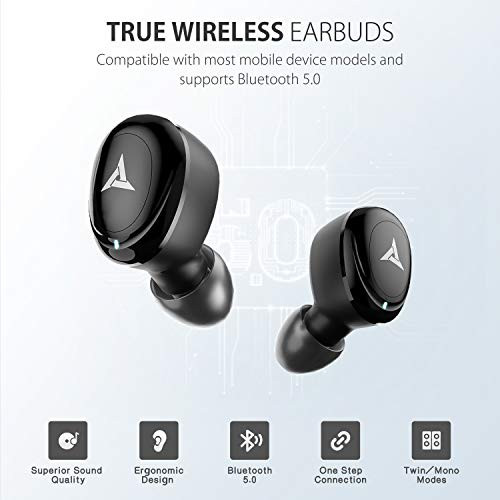 Bluetooth Earbuds Wireless Earbuds Bluetooth Earphones Wireless Headphones, Bluetooth 5.0 TWS Stereo Earphones in-Ear with Charging Case, Built-in Microphones for Sports,Workout,Gym (Black) 13